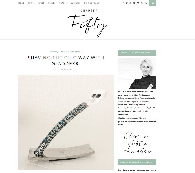 4 articles in Chapter fifty: Shaving the Chic way
